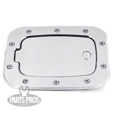 NEW Chrome Locking Gas Fuel Door / FOR FORD F250 F350 SUPERDUTY PICKUP 2011-2014