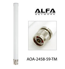 Alfa 9 dBi AOA-2458-59-TM 2.4/5 GHz Dual Band Outdoor Wi-Fi omni antenna N-Male
