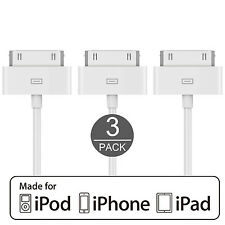 OEM Genuine Original Quality iPhone 4,4S Charging & Data Cable 3 Pack US Seller