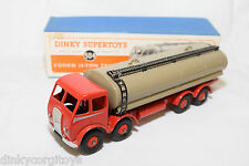 P DINKY TOYS 504 FODEN 14-TON TANKER TRUCK 1ST TYPE NM BOXED RARE SELTEN