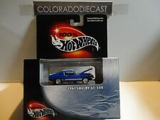 Hot Wheels 100% Black Box Blue 1967 Shelby GT-500 Mustang w/Real Rider Wheels
