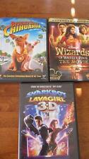 DVD Set*Beverly Hills Chihuahua* Wizards of Waverly Place* Sharkboy Lava Girl 3D