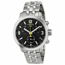Tissot Men's Watch PRC 200 Chronograph - Black Dial Stainless Steel