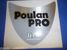 NEW POULAN PRO 6.75HP HANDLE DECAL FITS RT TILLERS   BLACK & SILVER OEM