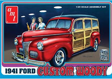 "AMT 1/25  1941 Ford Woody ""Custom Woody"" 906 AMT906 Plastic Model Kit"