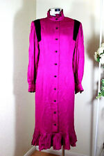 Vintage Rare NINA RICCI Boutique Pink Long Sleeve Dress Evening Gown M 6 7 8