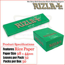 Rizla Green Kingsize Slim Cigarette Rolling Papers - One Full New Box
