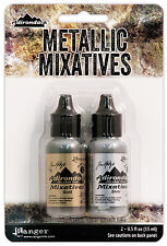 Adirondack Alcohol Ink Metallic Mixatives .5oz 2/Pkg-Gold & Silver