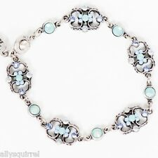 NWT ANNE KOPLIK PACIFIC BLUE & AIR BLUE SWAROVSKI CRYSTAL BRACELET MADE IN USA