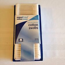 Equaline Cotton Swabs - 100% Pure Cotton Tips - 375 Swabs