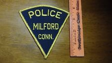 VINTAGE MILFORD CONNECTICUT  OBSOLETE SHOULDER   PATCH BX K #30