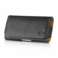 For Samsung Galaxy S3 - BLACK Leather Case Belt Clip Horizontal Pouch Holster