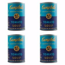 SET OF 4 BLIND BOX ANDY WARHOL CAMPBELL'S SOUP CAN VINYL SERIES FIGURES KIDROBOT