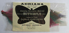 "Adriana Decorative Material ""Genuine Butterfly Wings"", Odyssey Imports, Taiwan"