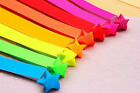 60 pieces ORIGAMI LUCKY STAR PAPER - 8 bright colors 4 creative hands