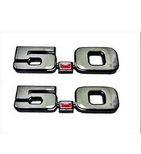 1979-1993 FORD MUSTANG CHROME 5.0 FENDER EMBLEM SET - GT SSP LX