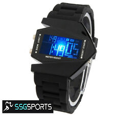 SSG NEW BLACK LED WATCH WITH A FASHIONABLE DESIGN CASE, SILICONE STRAP, DIGITAL