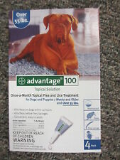 Advantage Blue 100 (4-Pack) for Extra Large Dogs 55  lbs ** FREE SHIPPING **