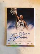2013-14 Panini Intrigue Slam Ink Gold AUTO DEREICK FAVORS #D /10 Jazz