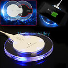 Clear Qi Wireless Fast Charger Charging Pad for Samsung Galaxy Note 7 S7 S6 Edge