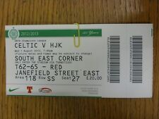 01/08/2012 Ticket: Celtic v HJK [Champions League] (Folded). Thanks for viewing