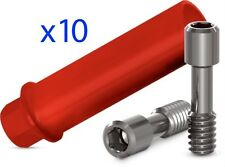 10 x Dental Plastic Structure Abutment hex System  for Casting with Hex