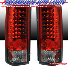 "1985-2005 GMC CHEVY ASTRO VAN SAFARI ""L.E.D."" LED TAIL LIGHTS RED CLEAR PAIR"