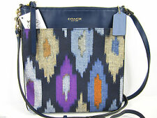 NWT Coach MADISON IKAT CROSSBODY Swingpack Tribal North South BLUE MULTI 51561