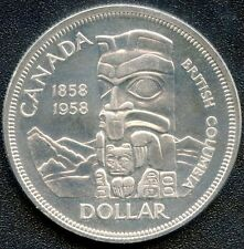 1958 Canada Proof Like Silver Dollar Coin (23.33 Grams, .800 Silver)
