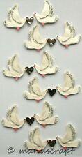 Artoz Artwork 3D-Sticker, Tauben mit Herz, Hochzeit, Liebe