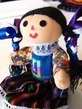 "#677 Mexican Rag Doll Artisan Hand Made Maria Costume Fair Trade 7"" Toy Girls"
