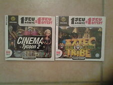 28010// LOT 2 JEUX  DE STRATEGIE POUR PC CINEMA TYCOON + AZTEC TRIBE NEW LAND PC