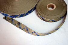 1 Inch Nylon Webbing Blue, Tan and Black, 10 Yards, USA, MilSpec Class1a New