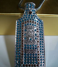 """Men's Silver finish hip hop Bling raper style fashion pendant with 36"""" chain"""