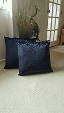 MetallicEffect BLACK  Crushed Velvet 22 inch Cushion Cover