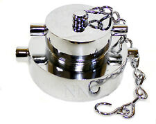 """2-1/2"""" x 1-1/2"""" NST FIRE HOSE/HYDRANT ADAPTER with CAP & CHAIN POLISHED CHROME"""