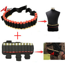 10 Round 12GA Shotgun Shell Holder for Arm + 25 Round Bandolier Ammo Sling Belt