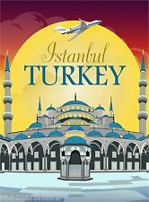 Istanbul Turkey by Clipper Vintage Travel Art Advertisement Poster