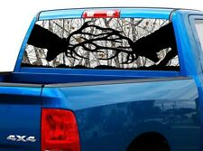 P439 Deer Buck Buck Rear Window Tint Graphic Decal Wrap Back Truck Tailgate