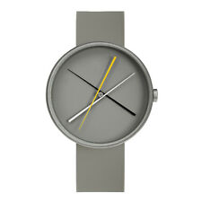 "Projects Watches ""Crossover Gray"" Quartz Silicon Inox Brushed Steel Men's Watch"