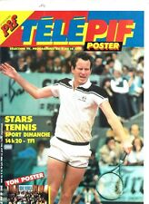 MAGAZINE TELE PIF POSTER *MC ENROE / TENNIS*  (U.S.A FOR AFRICA)