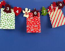 Advent Calendar Felt Peg Garland with Paper Bags - SALE - WAS £16