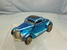 Vintage Mattel Hot Wheels: Redline 1968 CLASSIC 36 FORD COUPE Blue / Black