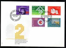 Switzerland - 1982 Events (I) Mi. 1216-20 clean unaddressed FDC