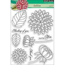 "Penny Black Clear Stamps 5""X7"" Dahlias 759668301591"