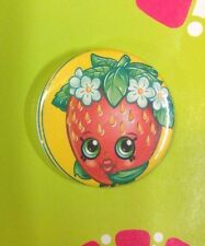 "Shopkins Toy Figures Strawberry Kiss 2.25"" Pinback Button Badge Pin Party Favor"