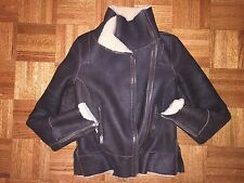 All Saints Genuine Shearling/Sheepskin Brown Jacket women Sz 8 /S Org.$1298