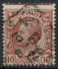 Italy 1906-8 SG#76, 10c Rose-Red Perf Shift Error Used #D8846