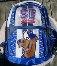 Scooby-Doo-Chicago Cubs Play Ball Backpack With CD Case-Blue White & Red