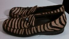 Sesto Meucci Women 8 1/2M Made in Italy Zebra Look Real Loafer Shoes